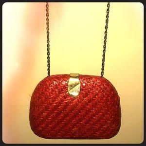 Handbags - Vintage Red Amazingly Unique Purse+Clutch combo